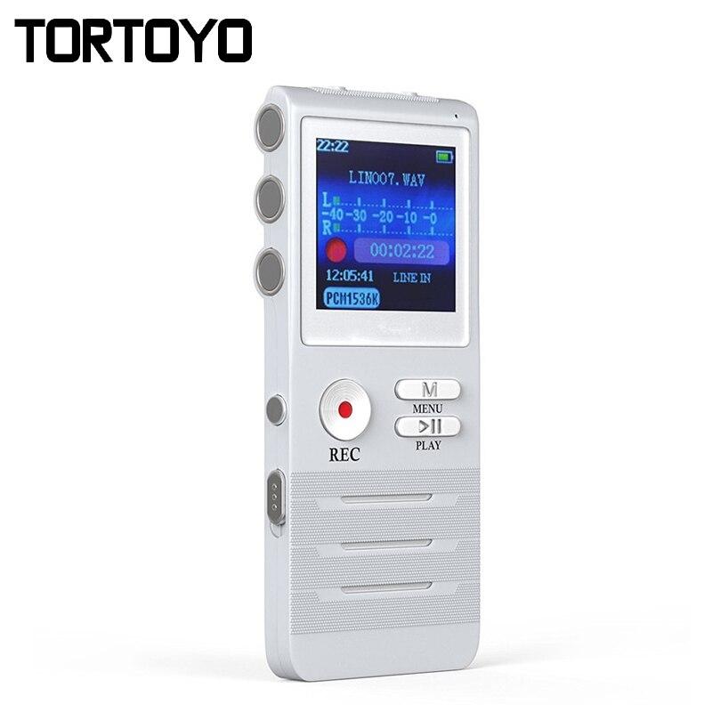 K6 8 GB Enregistreur Vocal Numérique avec Double Microphone Enregistrement HD Premium Boîtier Métallique Micro et Dictaphone USB MP3 Livraison casque