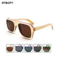 Handmade Skateboard Wooden Sunglasses Women Men Polarized Goggle Sport Summer Eyewear De Sol SQ-SK7585
