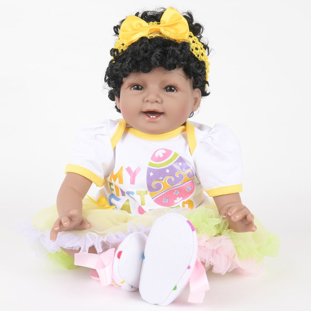 55cm Soft Full Silicone Reborn Baby Realistic Newborn Princess Girl Doll for Kids Toy Christmas Birthday New Year Gift недорого