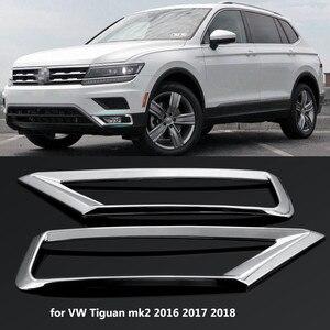 Image 1 - Автомобильный передний противотуманный светильник, 2 шт., хромированная отделка, Стайлинг автомобиля для Volkswagen VW Tiguan Mk2 2016 2017 2018