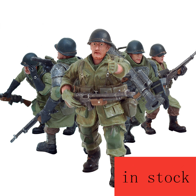 JOY TOY 1 27 action figures PVC Grizzly commandos army 5pcs lot high about 5 6