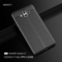 For Huawei Mate 10 Case Soft Silicone Shockproof Leather Cover L09 L29 AL00 BSNOVT