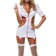 ผู้หญิงเซ็กซี่พยาบาลเครื่องแต่งกายชุดฮาโลวีนS Tripperเล่นเร้าอารมณ์ชุดชั้นในหญิงเซ็กซี่เครื่องแต่งกายชุดชั้นในแพทย์เครื่องแบบเกม