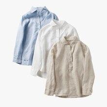 Women's solid solid linen shirt long sleeve button up 2017 summer