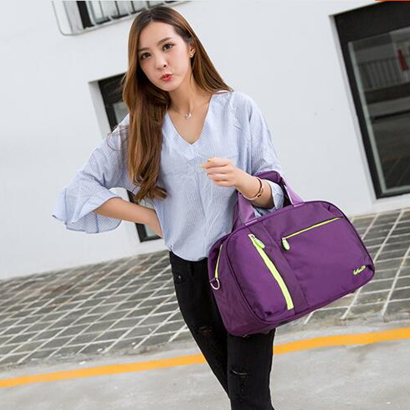 Купить с кэшбэком New Nylon  Women Gym Shoulder  Bag Traveling Storage Handbag For Men Fitness Sports Bag Small Size