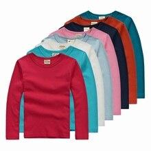 5 color Autumn child t-shirt boys girls child basic shirt cotton lounge sleepwear long-sleeve T-shirt free shipping