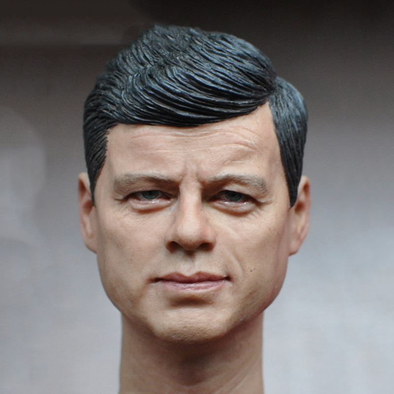 1/6 Scale John F. Kennedy Head Sculpt for 12 inches Male Body Figures Collections 1 6 scale mens head sculpt for 12 inches male bodies dolls figures collections toys gifts