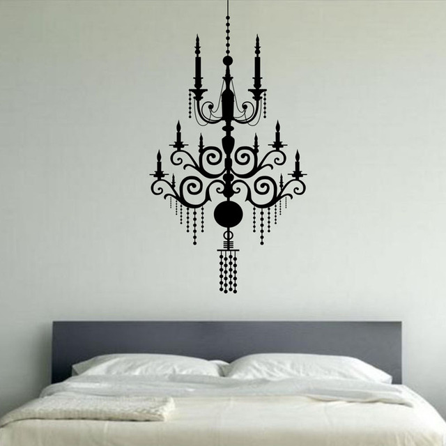 aliexpress  buy fashion candle chandelier wall decals bedroom, Headboard designs