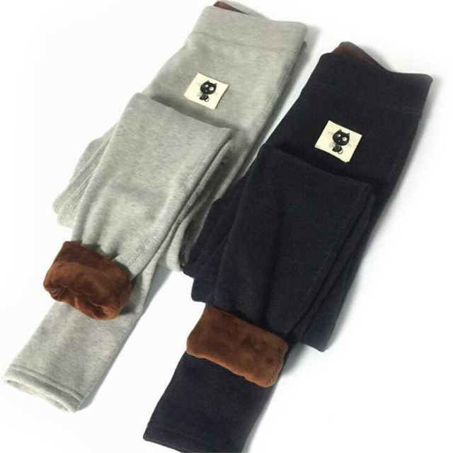 New Autumn Design Leggings Female Cartoon Cat Legging Women Simple Lovely Style Pantalones Winter Warm Trousers Thick Hot K171