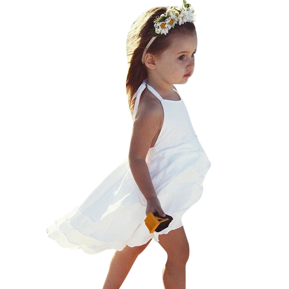 2 Colors Hot Cute Newborn Infant Baby Girl Solid Sleeveless Fold Dress Outfits Clothes High Quality Dropshipping AG30 13