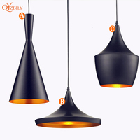 Modern Pendant Lights Nordic Aluminium E27 Edison Bulb Led Pendant Lamp For Home Lighting Living Room