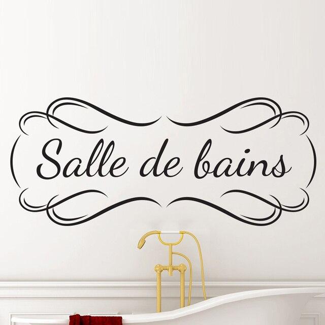 Creatieve Franse Badkamer DIY Spreuken Muurstickers Woondecoratie ...