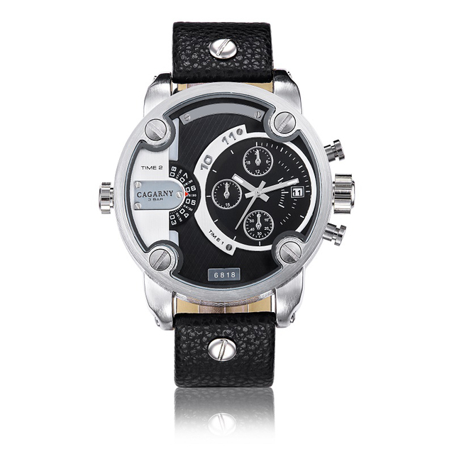 ebf01f93d098 Venta CAGARNY relojes hombres marca de lujo de cuarzo relojes montre homme  reloj del deporte militar