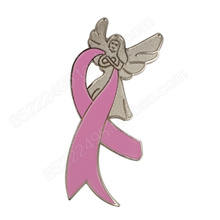 Breast Cancer Awareness Angel Wing Pink Ribbon Lapel Pins