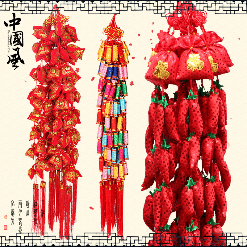 Wedding Room Decoration Pendant Ornaments New Year Spring Festival Celebration Pepper Christmas Decorations yeduo woman sexy apron new year christmas decorations