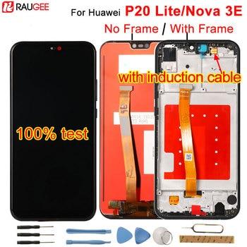 """لهواوي P20 لايت شاشة الكريستال السائل + محول الأرقام بشاشة تعمل بلمس مجموعة قطع غيار لهواوي P 20 لايت/نوفا 3E ANE LX1 ANE LX3 5.84""""-في شاشات LCD للهاتف المحمول من الهواتف المحمولة ووسائل الاتصالات على"""