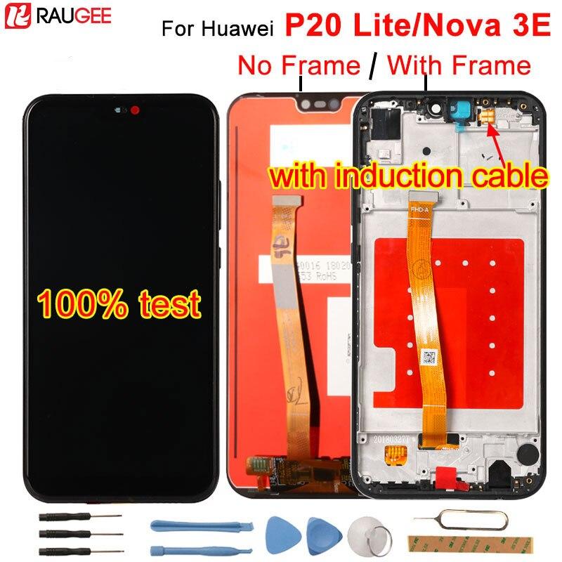 Para Huawei P20 Lite LCD Display + Touch Screen Substituição Digitador Assembléia Para Huawei P 20 Lite/Nova 3E ANE-LX1 ANE-LX3 5.84