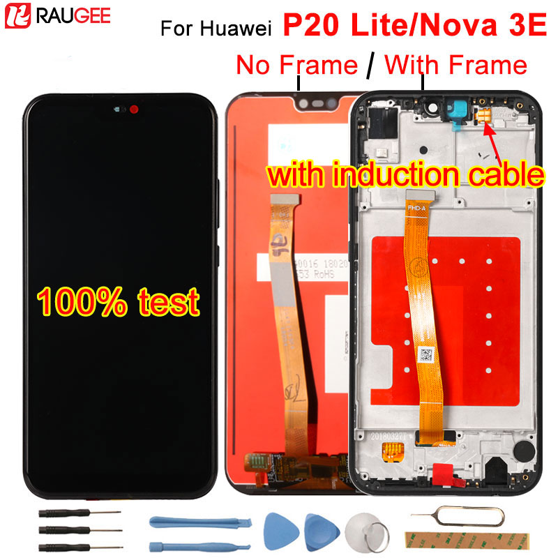 Para huawei p20 lite display lcd + digitador da tela de toque substituição assembléia para huawei p 20 lite/nova 3e ANE-LX1 ANE-LX3 5.84