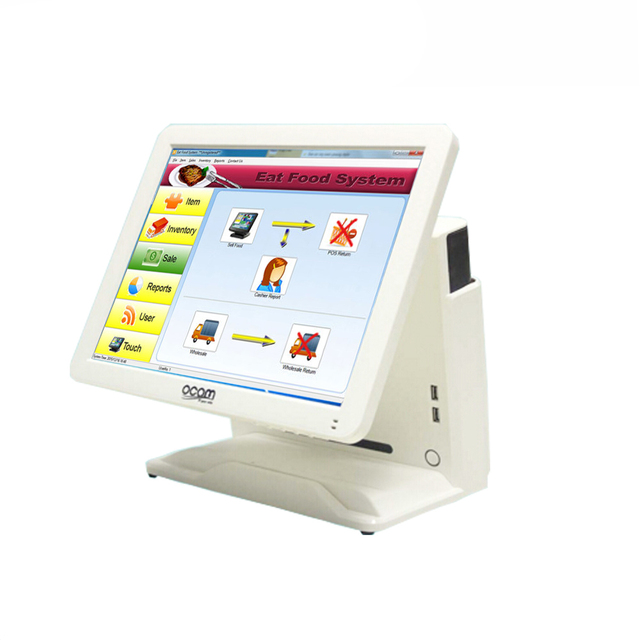Flash Promo 1619B Compos 15 Inch Touch Screen Display Cash Register Cash Register Card Reader Scanner Can Be Customized