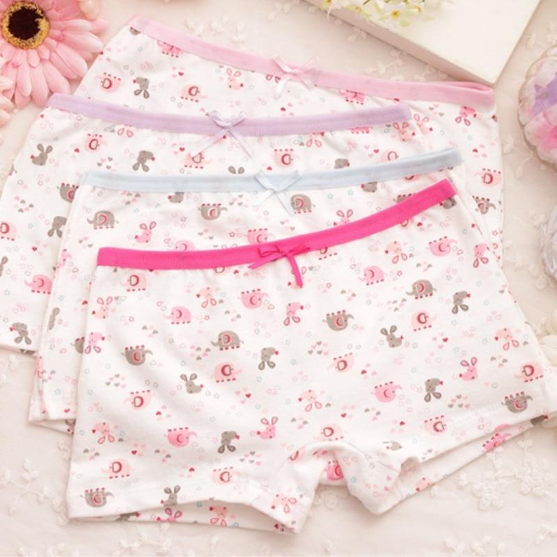 4Pcs/lot Cartoon Kids Girl Underwear For Baby Children's Boxer Underpants Briefs Girls Underware Pants For 2-9 Y