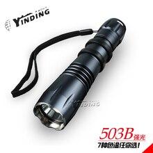 YINDING 503B 10w Cree XM L2 T6 1000 lm LED Super bright Aluminum Alloy flashlight 18650