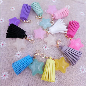 5pcs/lot Suede Tassels with Lo