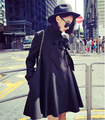The New England winter wind loose in the long loose street style black cloak coat wholesale 6317
