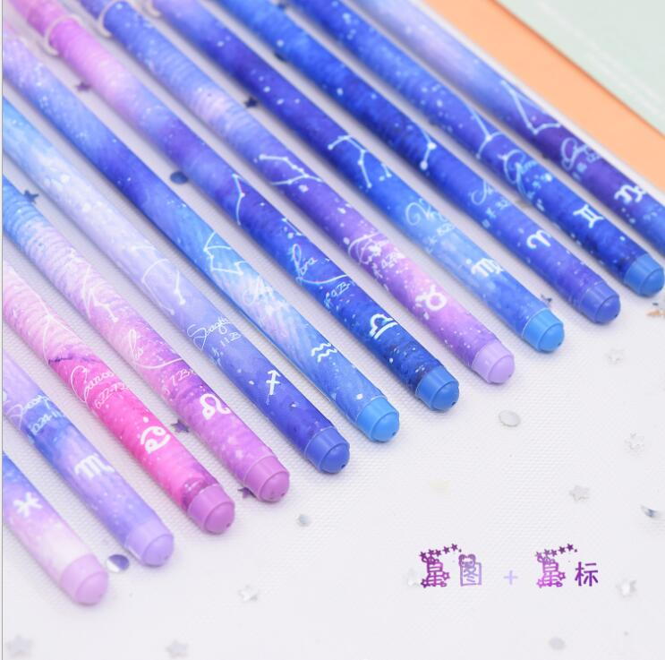 4 Pcs/lot 0.5mm Star Twelve Constellations Zodiac Gel Pen Ink Pen Promotional Gift Stationery School & Office Supply