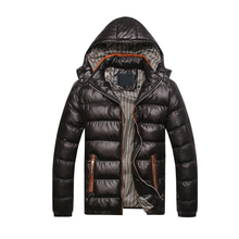 New Winter Jacket Men Warm Coat Cotton-Padded Outwear Mens Jackets Casual Hooded Collar Slim Male Clothes Thick Parkas Outwear