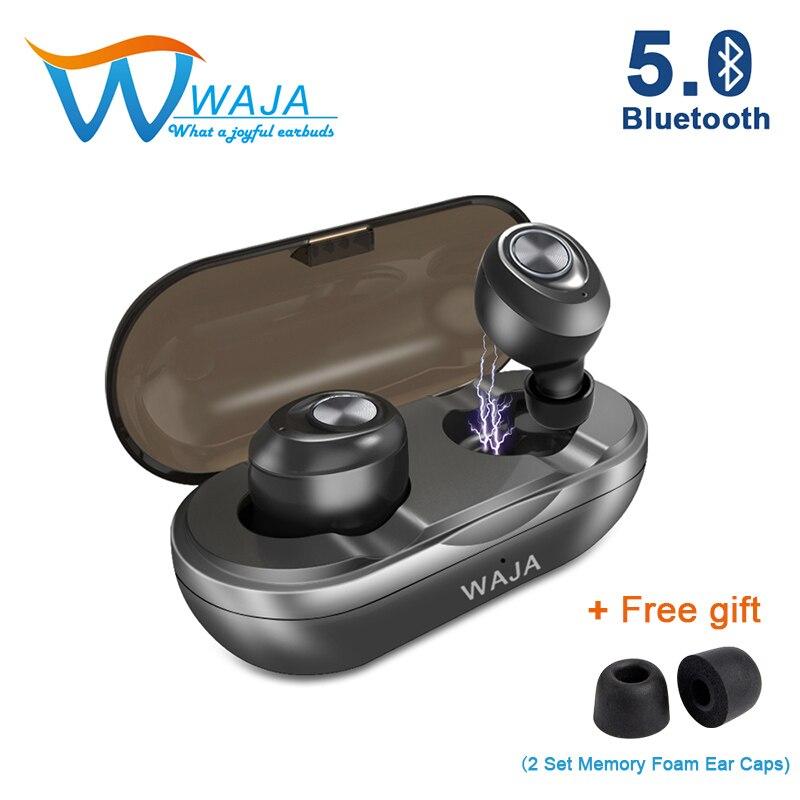 TWS Mini fones de ouvido Sem Fio Bluetooth 5.0 Fone de Ouvido Estéreo sem fio fones de ouvido Fones de Ouvido com cancelamento de ruído fones de ouvido com Microfone Esportes