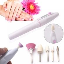 5 Bits Electric Nail File Drill Kit Tips Manicure Toenail Pedicure Salon Pen Shape Set Electric Manicure Nail Art File Beauty