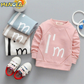 Menoea 2017 New Spring&Autumn Fashion Children Cartoon T-shirt  Baby Girl Tops Boy Tees Hot Sale 1-4 Years old Short Sleeve