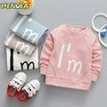 Menoea 2017 Nueva Primavera y Otoño Moda Niños de la Historieta T-shirt Tops Baby Girl Boy Tees Venta Caliente 1-4 años de edad de Manga Corta
