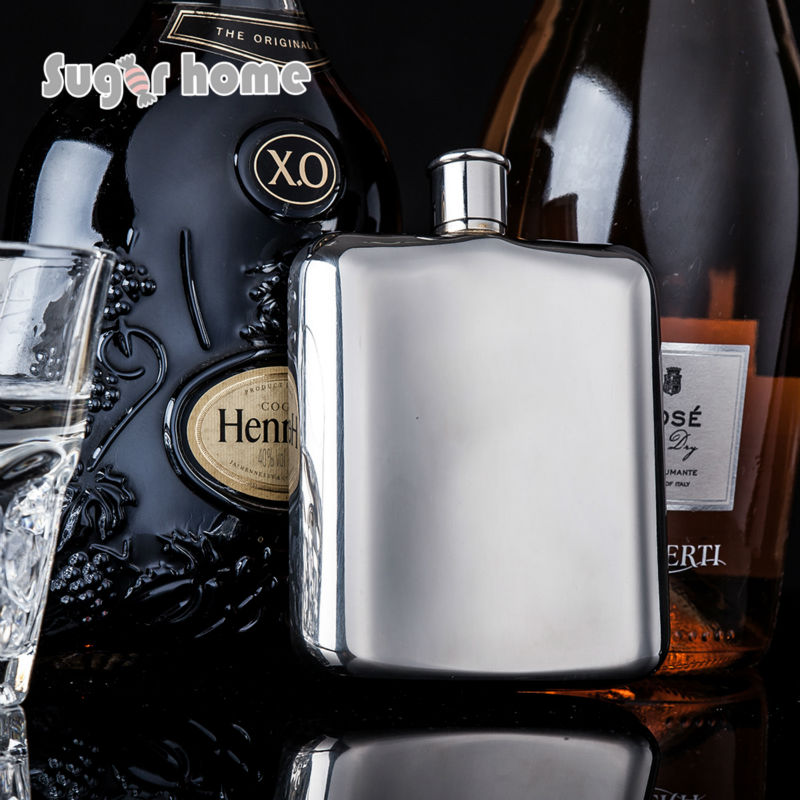 Mealivos fashion silver 6 oz Food Grade 304 Stainless Steel Hip Flask drinkware Alcohol Liquor Whiskey  vodka Bottle gifts