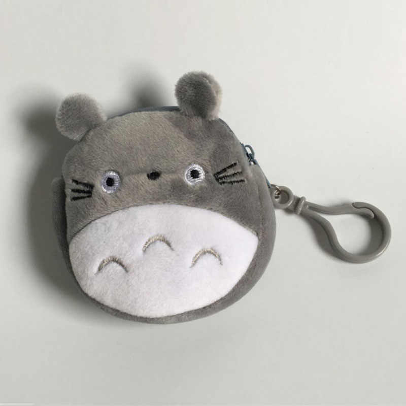 New Totoro Mini 8CM Approx Plush Toy Key Hook Plush Coin Purse Practical Bag Totoro Children's Gift Plush Purse Plush Toys I0133