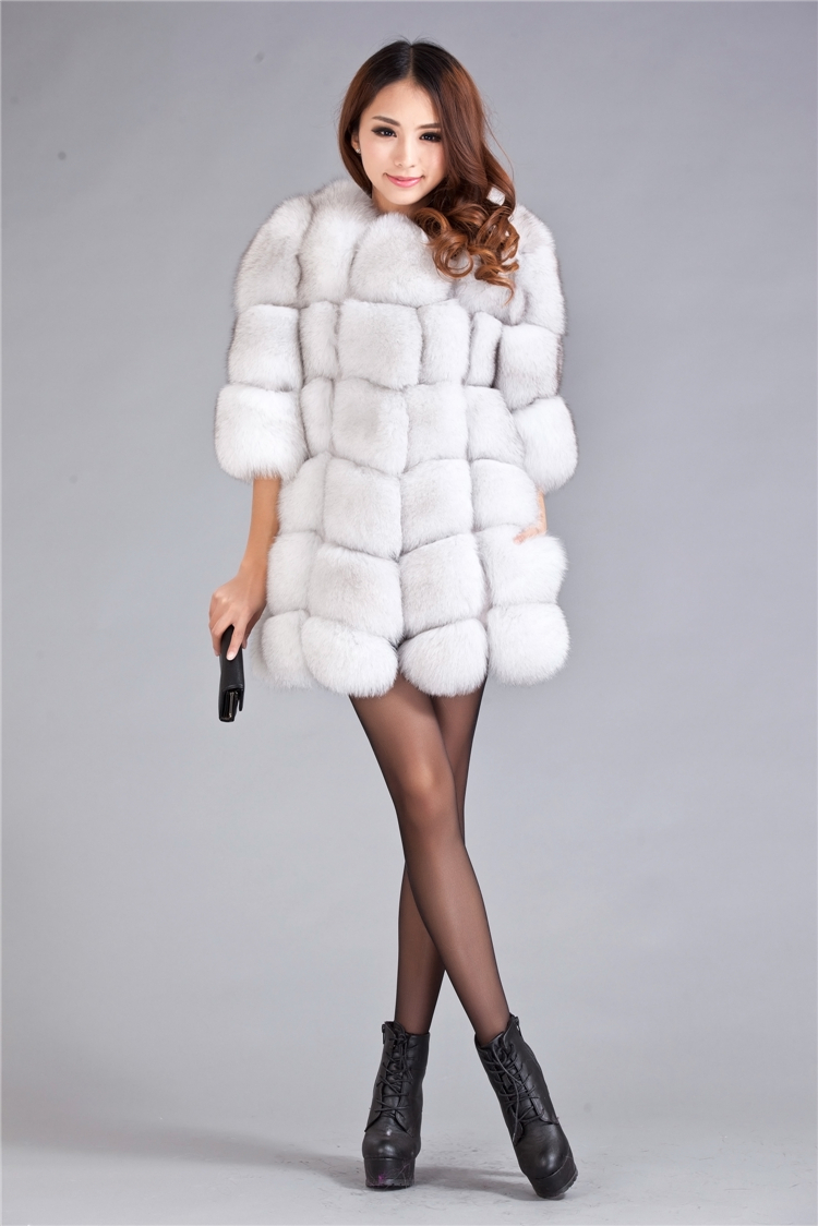 2014 Spring New Genuine Real Fur OFF White Fox Fur Vest Natural ...