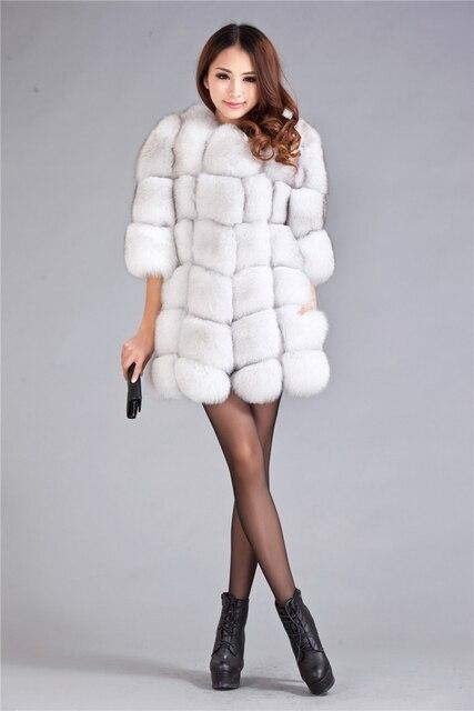 2017 Winter New Genuine Real Fur Nature White Natural Fox Fur Coats Jacket  Women Women Lady Plus size 3xl 4xl 5xl 6xl 7xl 1e71c62c0