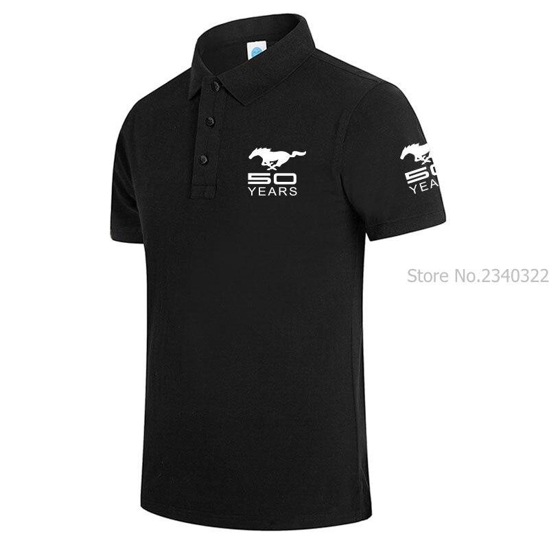 Мужские и женские однотонные рубашки-поло Mustang 50 лет, летние топы с коротким рукавом