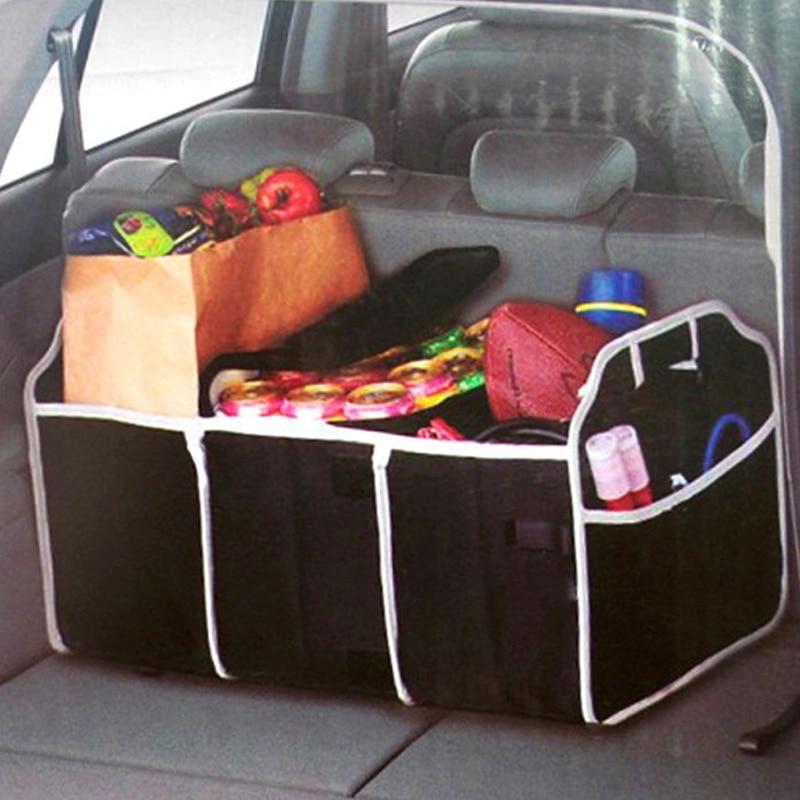 VODOOL Foldbar bilstam Organiserare Leksaker Livsmedel Förvaring Lastbil Lastbehållare Väskor Båda Bilstöd Styling Auto Tillbehör