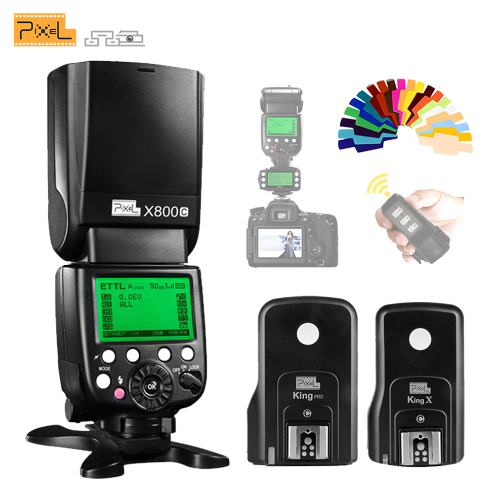 Pixel X800C PRO 2.4G Radio ETTL Wireless Flash Speedlite & King Pro Flash Trigger Transceiver For Canon DSLR VS YN600EX RT II
