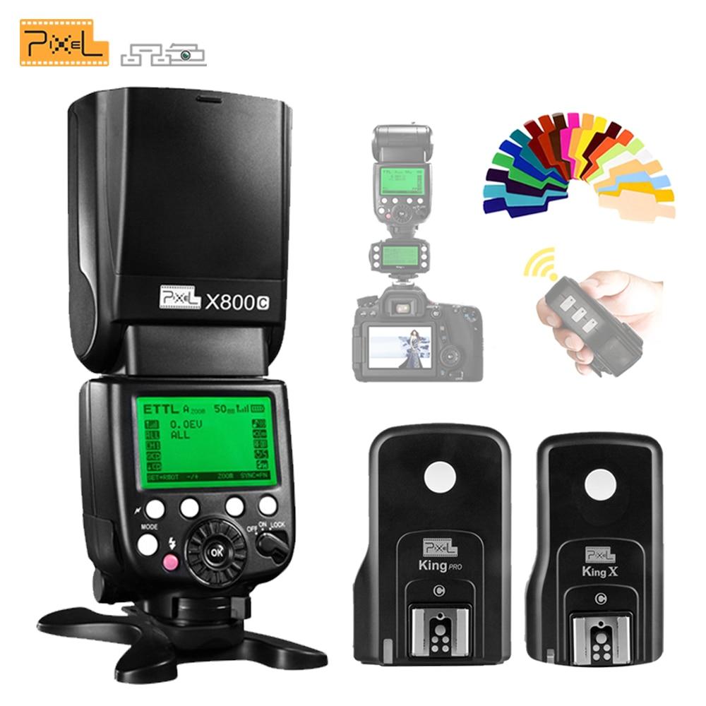 Pixel X800C PRO 2.4G Radio ETTL Wireless Flash Speedlite & King Pro Flash Trigger Transceiver For Canon DSLR VS YN600EX RT II