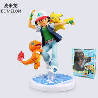 Ash Ketchum Pikachu Charmander Aciton Figures Pocket Monster Toys Anime Puppets Model PVC Dolls Kids Christmas