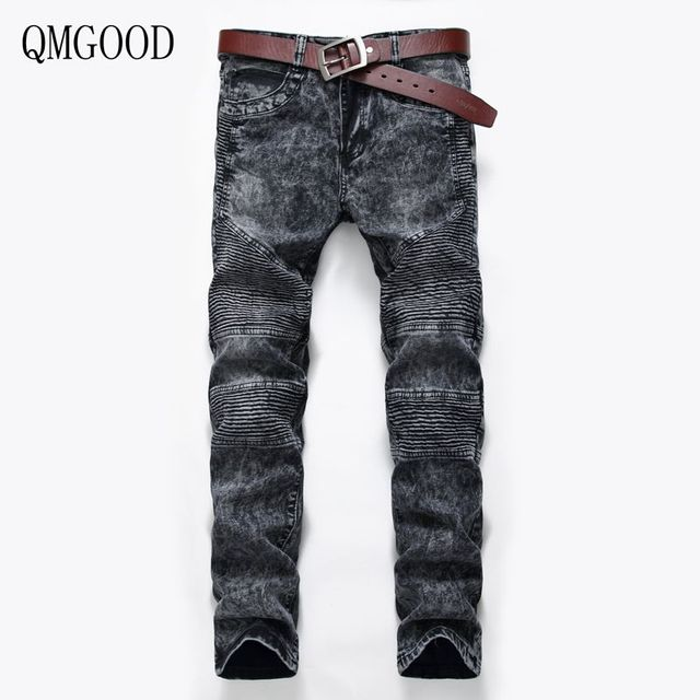 Designer Jeans Herren   Qmgood Herren Jeans 2017 New Fashion Slim Fach Jeans Manner Marke