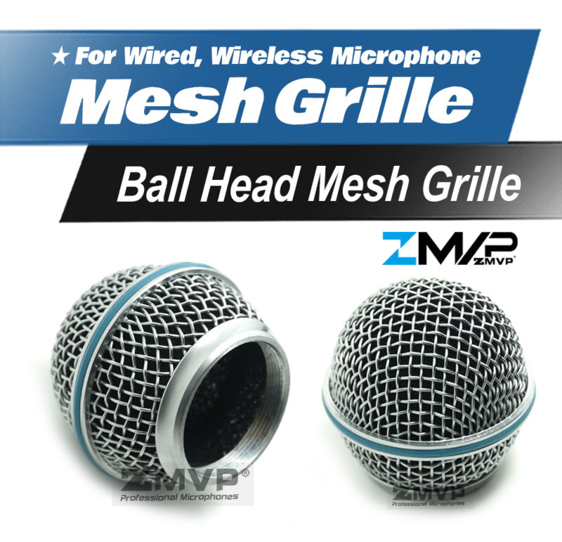 Free Shipping!! High Quality Replacement Ball Head Mesh Microphone Grille For Shure BETA58 BETA58A SM58 SM58S SM58LC Accessories