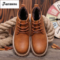 QIYHONG  BRAND Autumn And Winter High-Quality Men Martin Boots Men Boots Boots Men Boots  Retro Fashion Boots Men Cotton Shoes