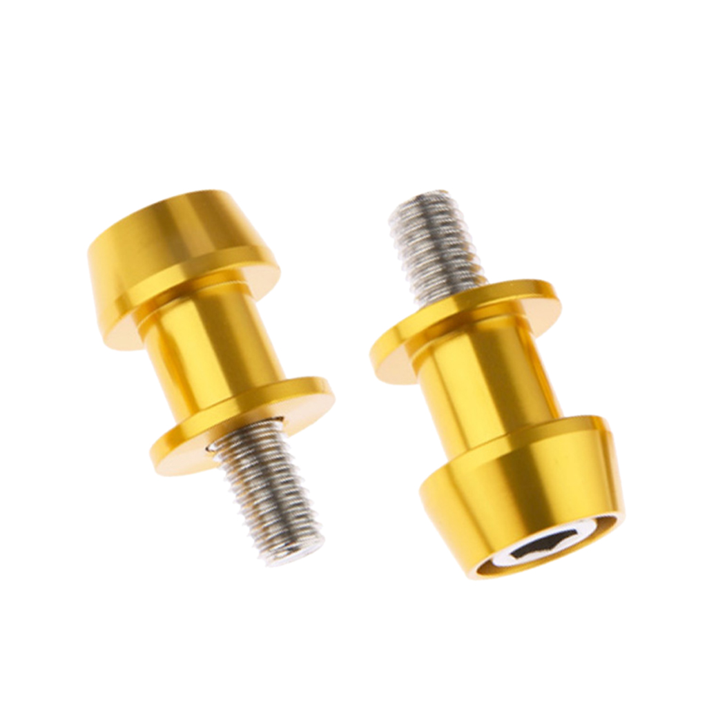 2pcs 6mm Various colors Universal Motorcycle CNC Swing Arm Slider Spools For Many Models