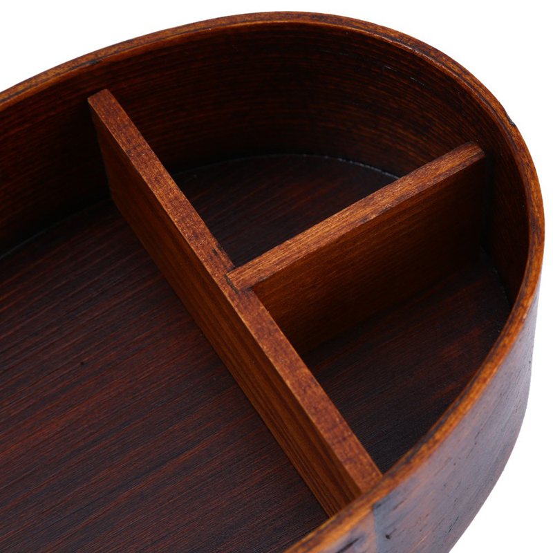 cheap bento boxes Wood Lunch Box Japanese Bento Boxes Handmade Natural Wooden Sushi Box Portable Food Container Dinnerware Set (5)