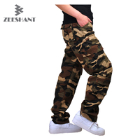 Brand Military Army Camouflage Cargo Pants Plus Size Multi Pocket Overalls Trousers Men Brand Clothing Crotch