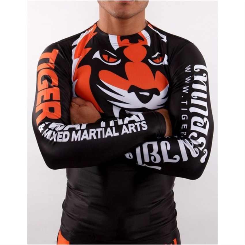 Suotf Mma Tinju Harimau Mendominasi Tiger Head Pola Kapas Lengan Pendek Olahraga Kebugaran Pelatihan Muay Thai Tinju Celana Pendek Mma