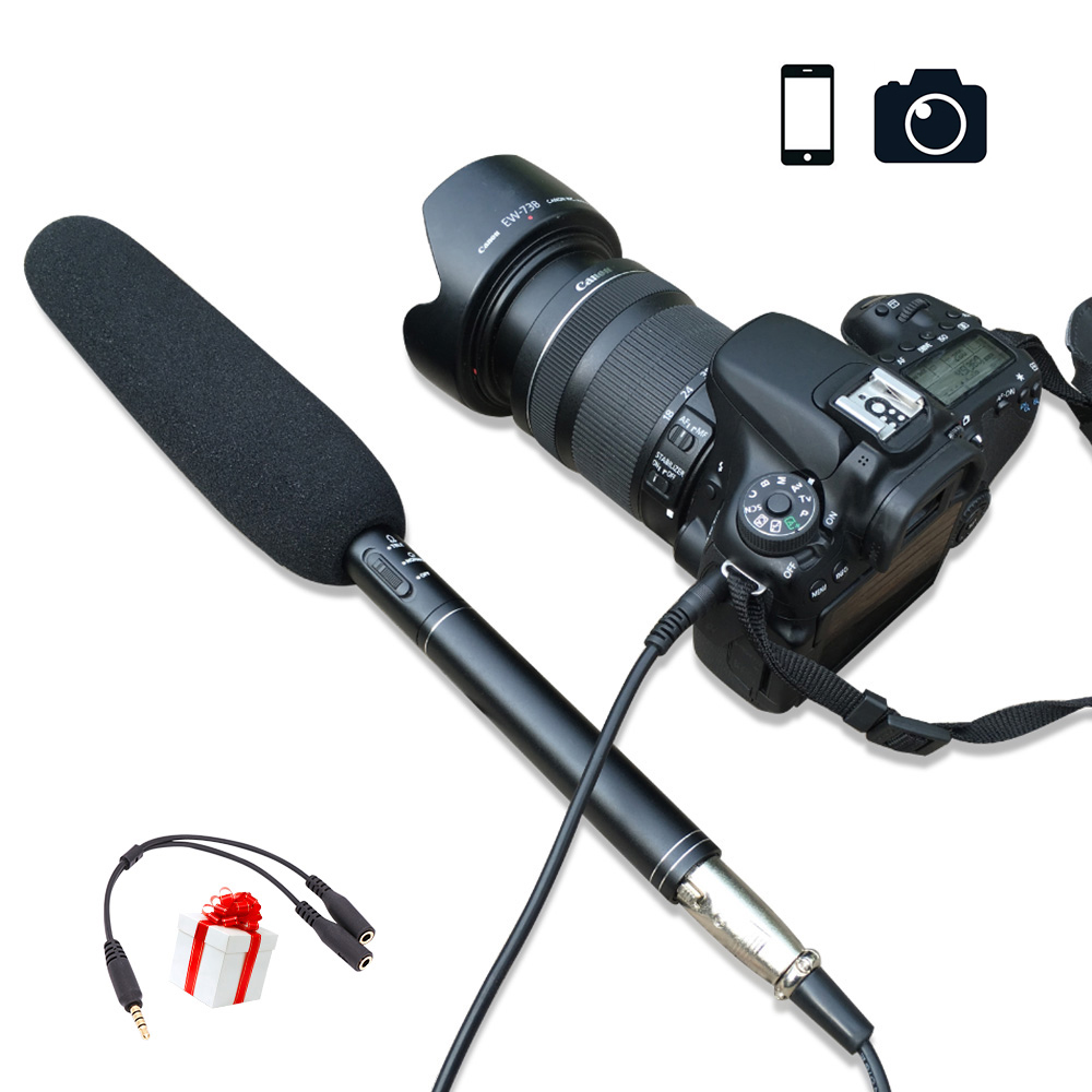 Ulanzi Handheld Video Microphone Interview Mic For iPhone X/8 7 Plus Smartphone Android DS